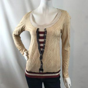 """Paul Smith Long-Sleeved """"Faux Sweater"""" Top"""
